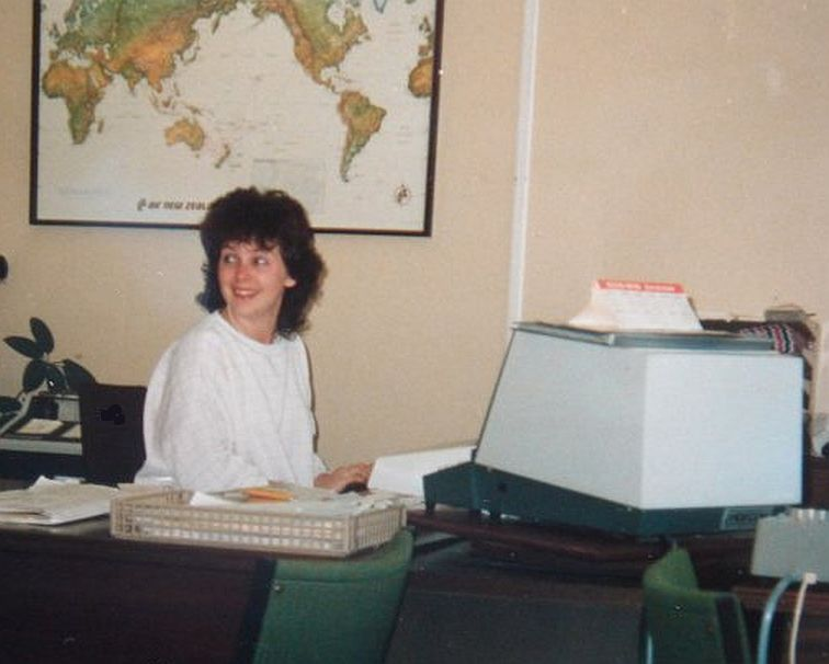 Marion Jackson, travel agent in 1986