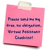 No obligation Virtual Assistant checklist.