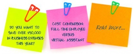 Cost Comparison:  Full time employee versus Virtual Assistant
